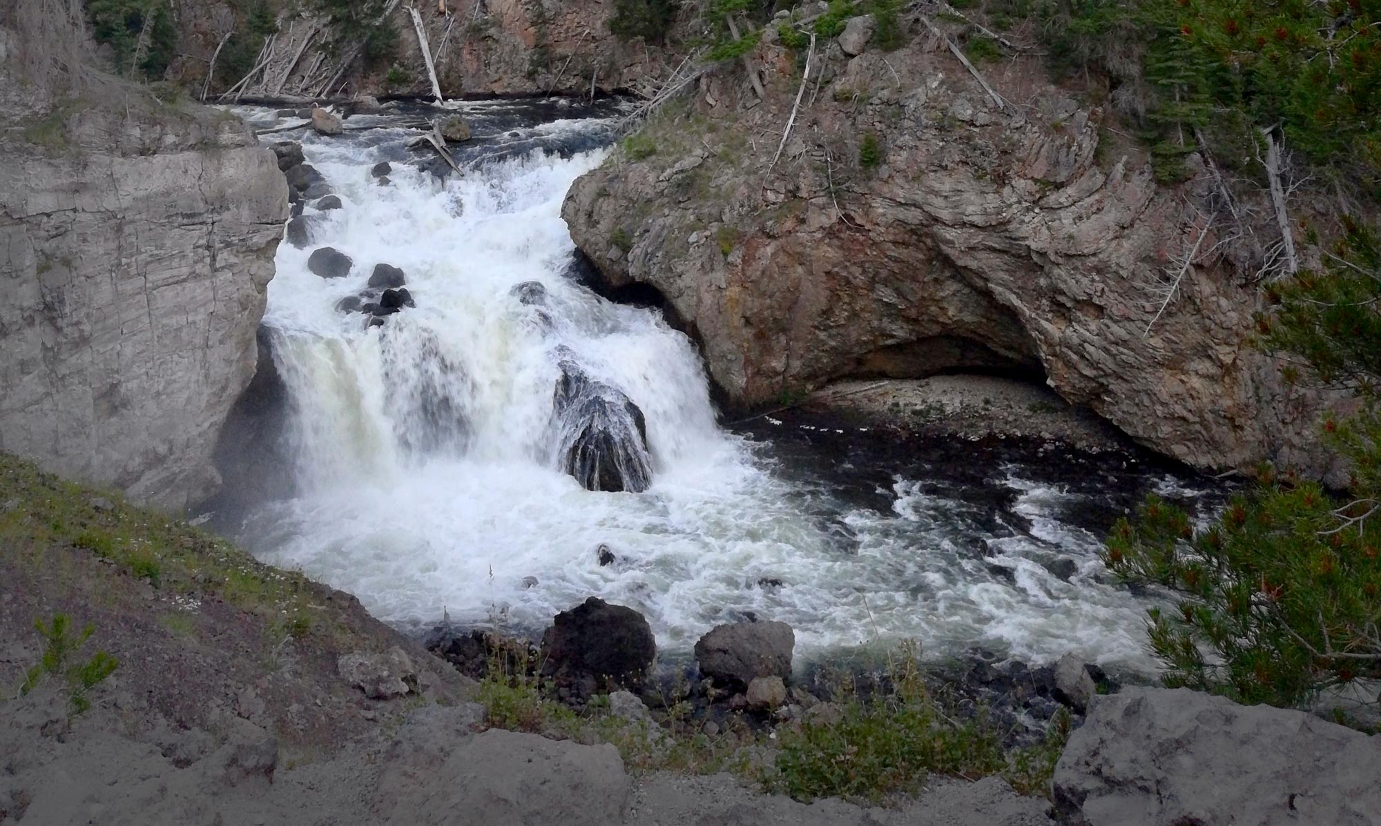 Firehole Canyon in Yellowstone National Park