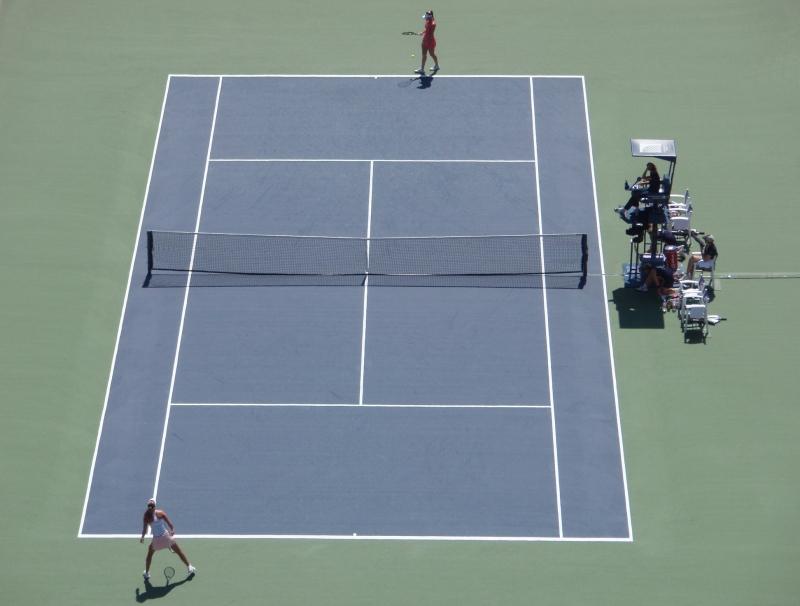 Tennisnet,dubbele topmaas,enkelspel