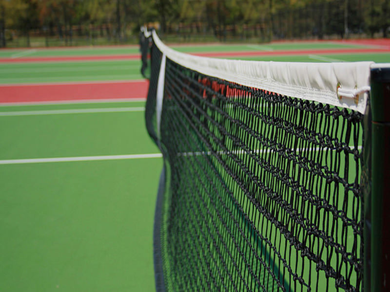 Tennisnet,dubbele topmaas, zwart