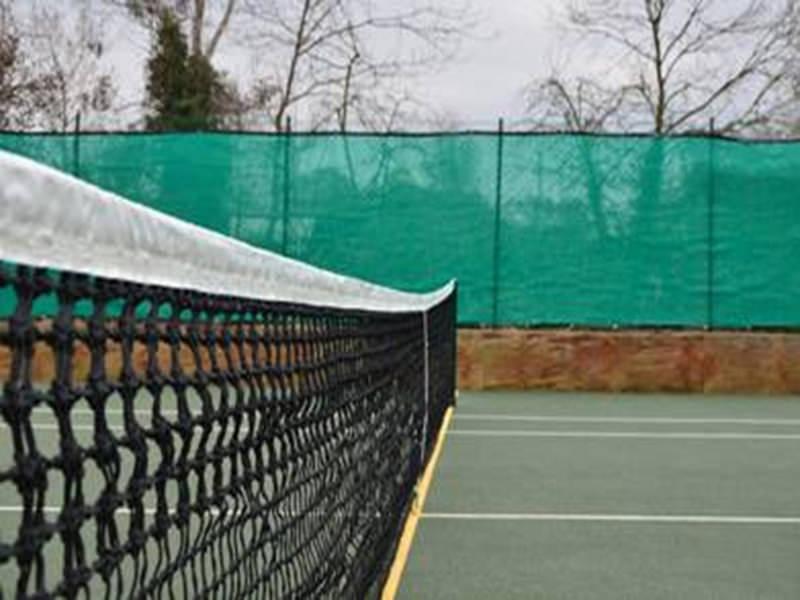 Tennisnet,dubbele topmaas glasfiber