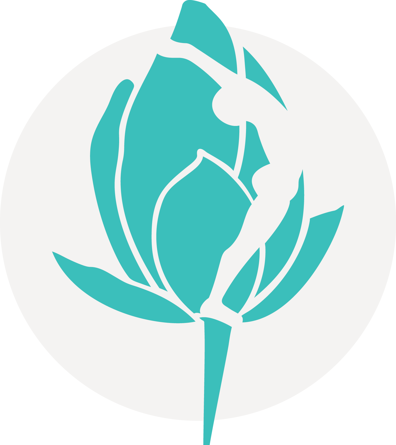 Yoga santosha icon teal