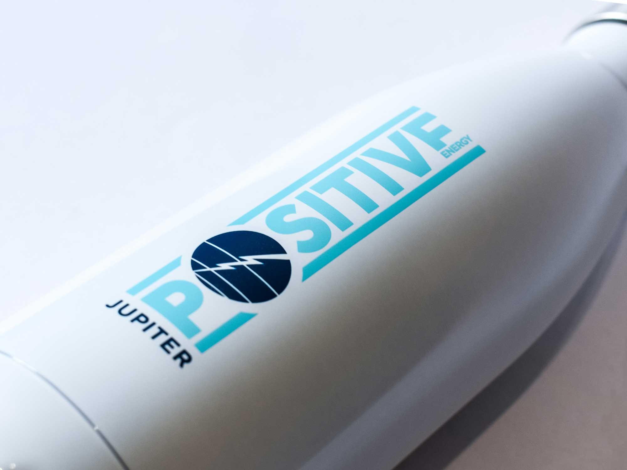 Swell water bottle given as swag for a corporate rebrand of an energy company in Calgary Alberta
