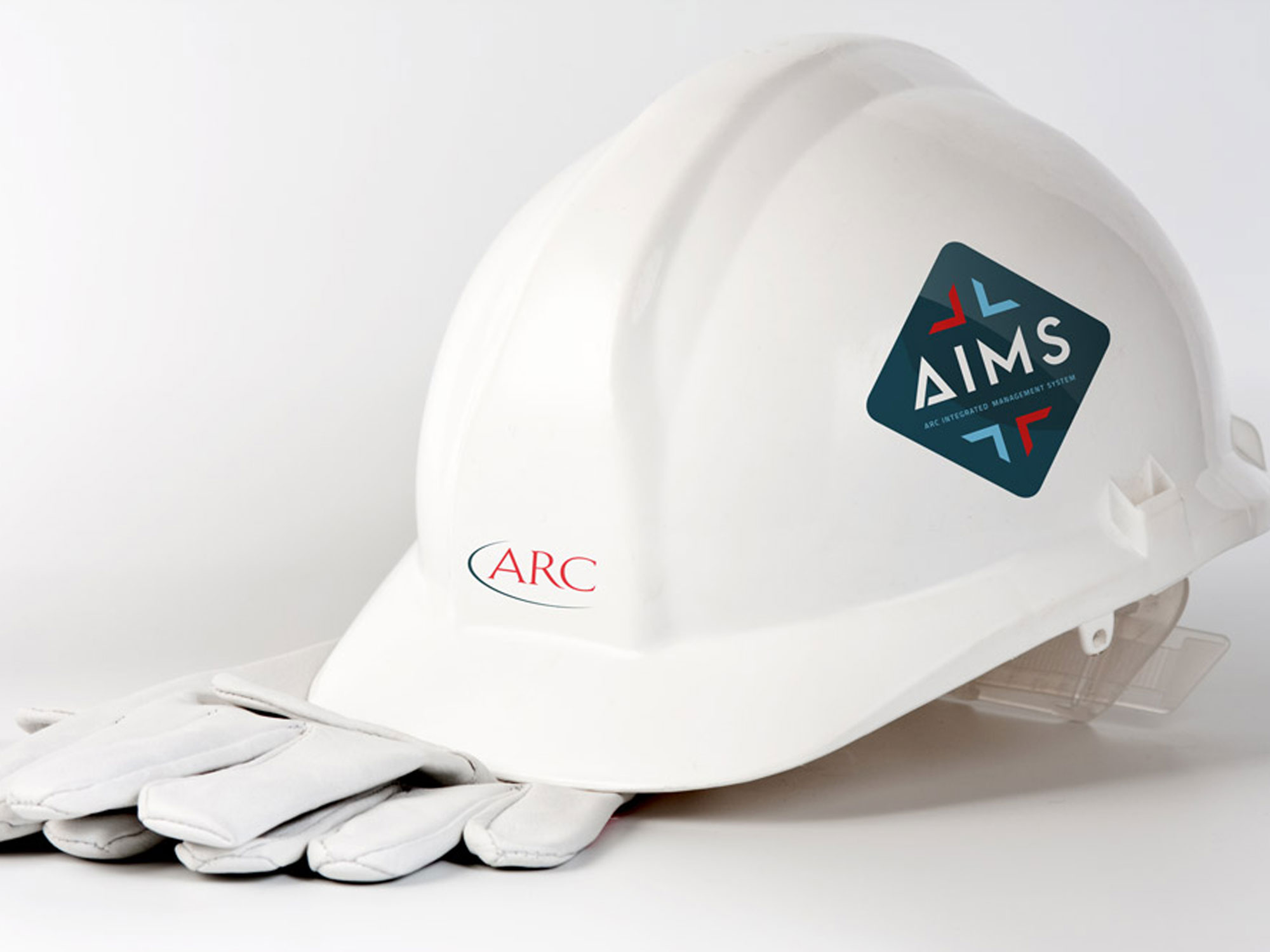 Hardhat decal for oil and gas field workers to wear after the launch of ARC Resources AIMS integrated management system app