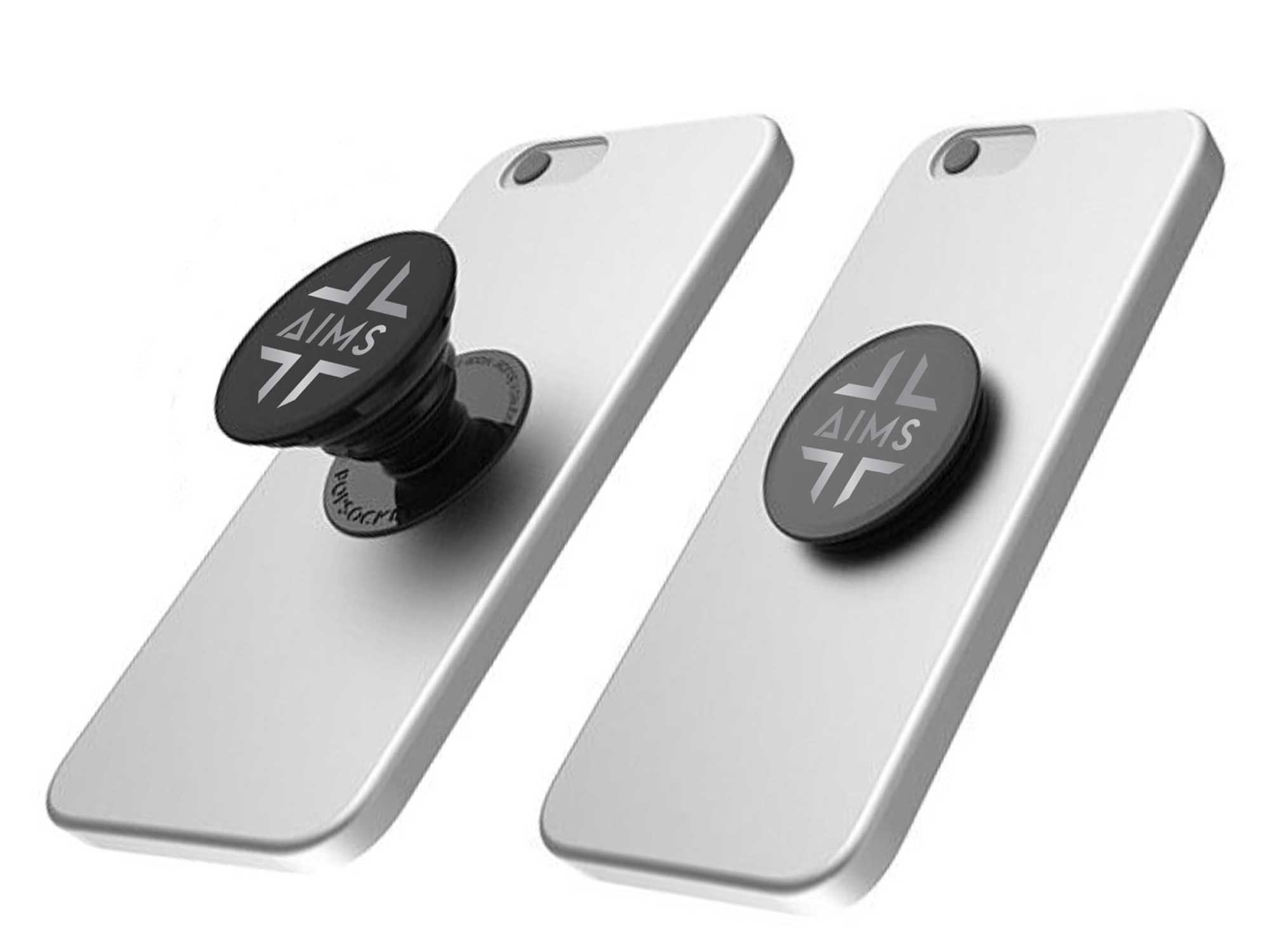 Corporate swag popsocket phone holder promotion item for ARC Resources to launch the AIMS app to employees