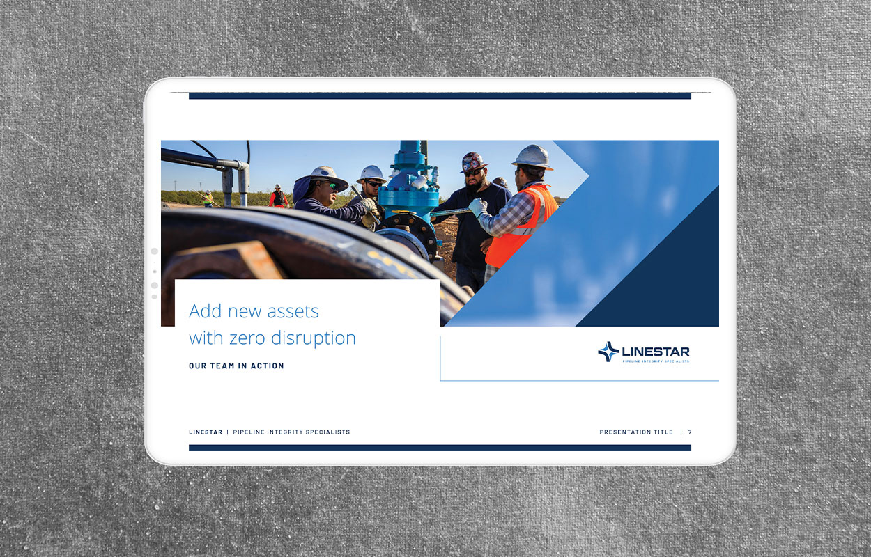 powerpoint design for linestar pipeline specialists designed by studio forum