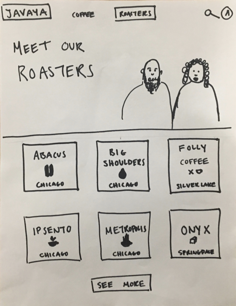 Roaster home page