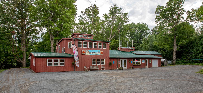 Exterior photo of Bechard's Sugar House