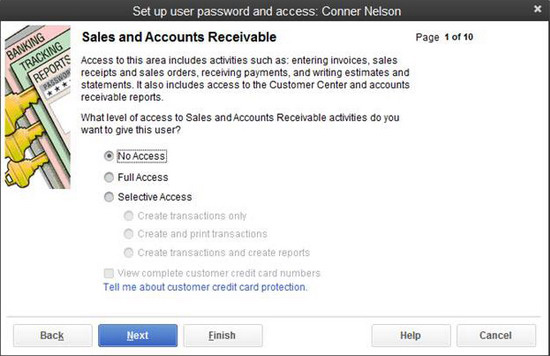 QuickBooks - Set up user password and access