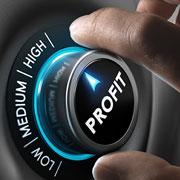 """Profit dial"" set to high"
