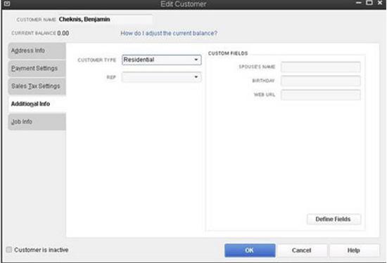 QuickBooks - Edit Customer