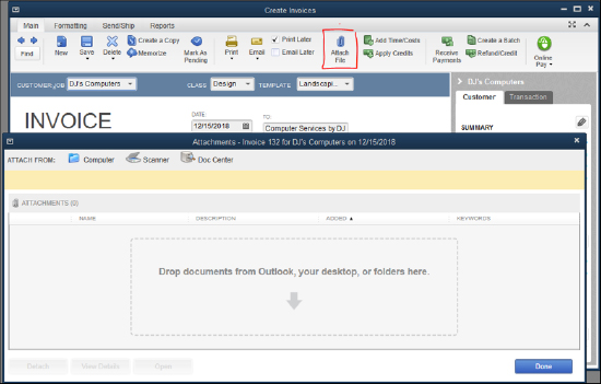 QuickBooks - Create Invoices
