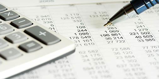 Calculator, spreadsheet, and pen