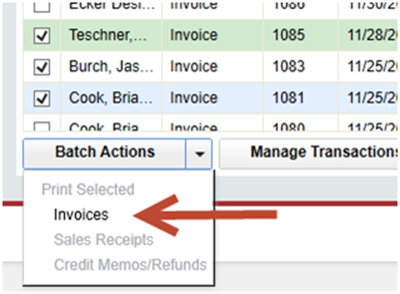 QuickBooks - Batched Actions