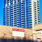 Building for lease sign