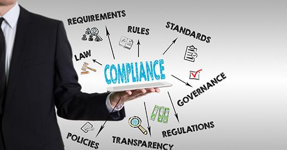 Compliance flowchart infographic