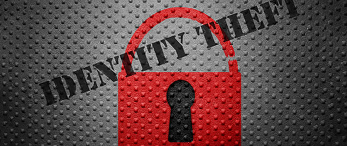Padlock with 'Identity Theft' overlayed