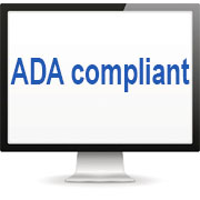 "Computer screen with text ""ADA Compliant"""