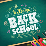 "Chalkboard - ""Welcome Back to School"""