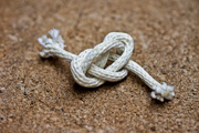 A rope tied into a knot