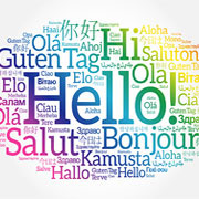 Hello written in several different languages