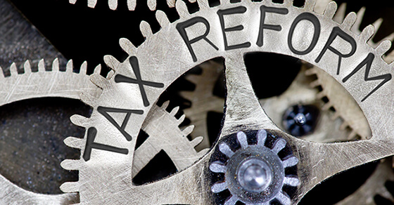 "Interlocked gears labeled ""Tax Reform"""