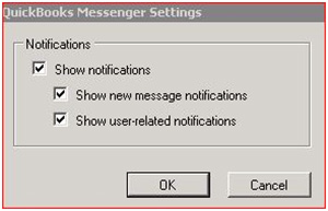 QuickBooks Messenger Settings