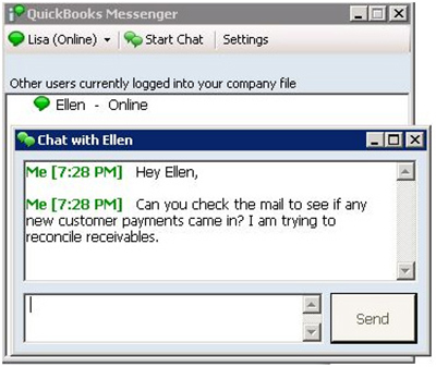 QuickBooks Messenger screenshot