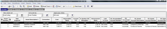QuickBooks - Fixed Asset Manager