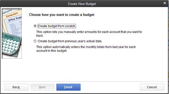 QuickBooks - Create a budget