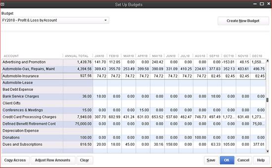 QuickBooks: Set Up Budgets