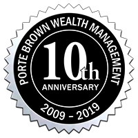 Porte Brown Wealth Management LLC 10 Year Anniversary Seal
