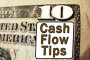 "$10 labeled ""Cash Flow Tips"""