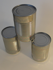 3 tin cans
