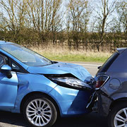 Car crash - fender bender