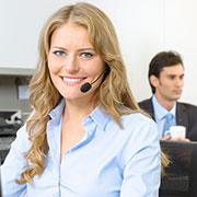 Customer service call center employee