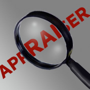Magnifying glass over the text: Appraiser