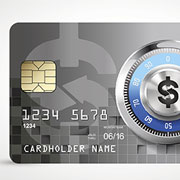 Credit card with a safe dial