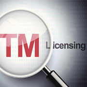 Magnifying glass over the text: 'TM Licensing'
