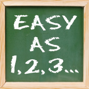 Chalkboard - 'Easy as 1-2-3'