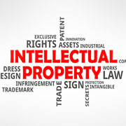 Intellectual Property Infographic of related words