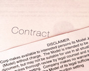 Contract disclaimer