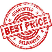 """Guaranteed Best Price"" decal"