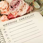 Wedding checklist and flowers