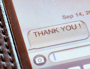 Text message - Thank You!
