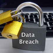 "Padlock labelled ""Data Breach"""