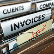 Folders: Invoices, Clients, Unpaid