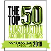 The 2019 Top 50 Construction Accounting Firms logo
