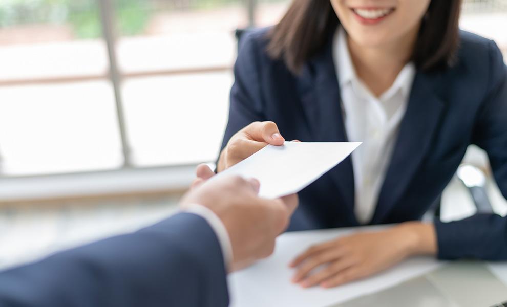 Receiving a Check