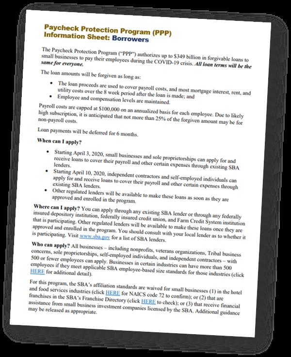 PPP Info Sheet Borrowers Thumbnail