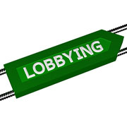 "Green arrow labeled ""Lobbying"""